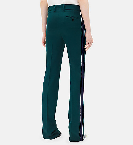 CALVINKLEIN Classic Straight Leg Trousers - DARK GREEN - CALVIN KLEIN CLOTHES - detail image 1