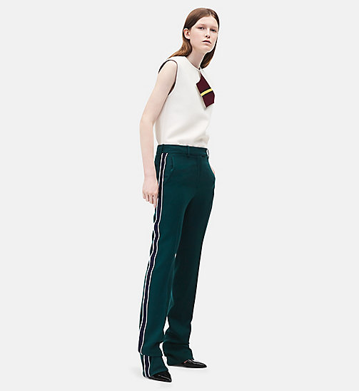 CALVINKLEIN Classic Straight Leg Trousers - DARK GREEN - CALVIN KLEIN CLOTHES - main image