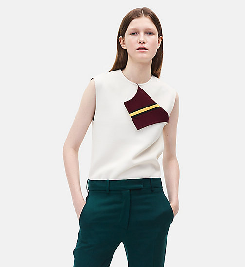 CALVINKLEIN Sleeveless Marching Band Uniform Top - WHITE - CALVIN KLEIN WOMEN - main image