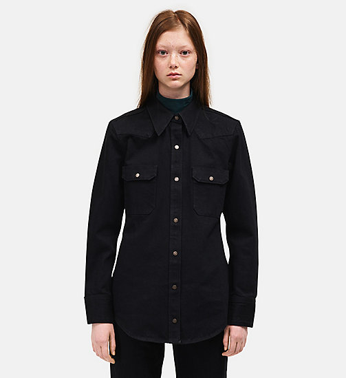 CALVINKLEIN Oversized Western Denim Shirt - BLACK - CALVIN KLEIN WOMEN - main image