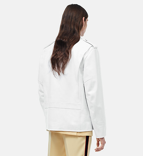 CALVINKLEIN Oversized Policeman Leather Jacket - WHITE - CALVIN KLEIN CLOTHES - detail image 1