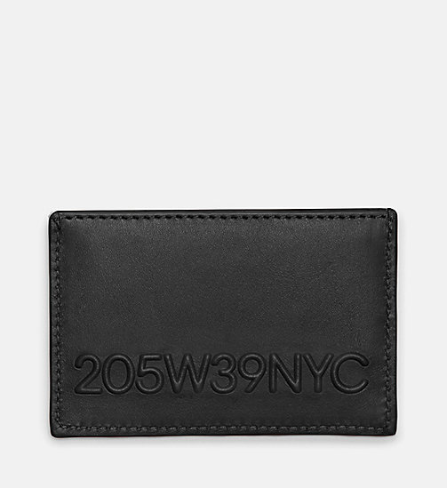 CALVINKLEIN 205W39NYC Embossed Small Card Case - BLACK - CALVIN KLEIN SHOES & ACCESSORIES - main image