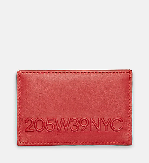 CALVINKLEIN 205W39NYC Embossed Small Card Case - RED - CALVIN KLEIN SHOES & ACCESSORIES - main image