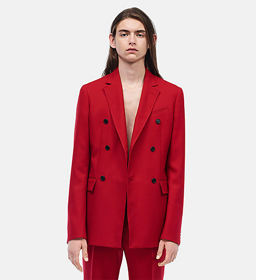 CALVINKLEIN Slim Fit Double Breasted Sport Coat - GRENADINE - CALVIN KLEIN CLOTHES - main image