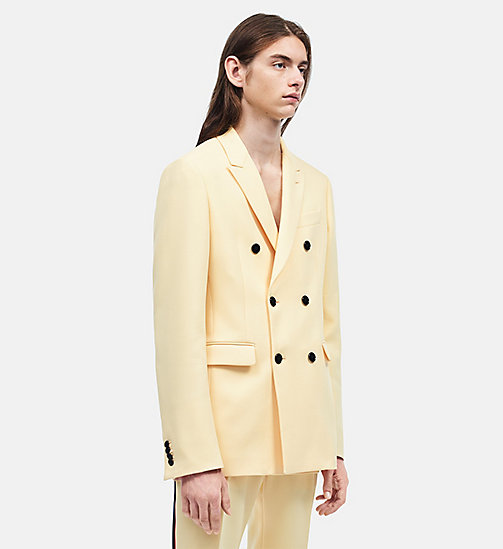 CALVINKLEIN Tailored Fit Double Breasted Sport Coat - FRENCH VANILLA - CALVIN KLEIN CLOTHES - main image