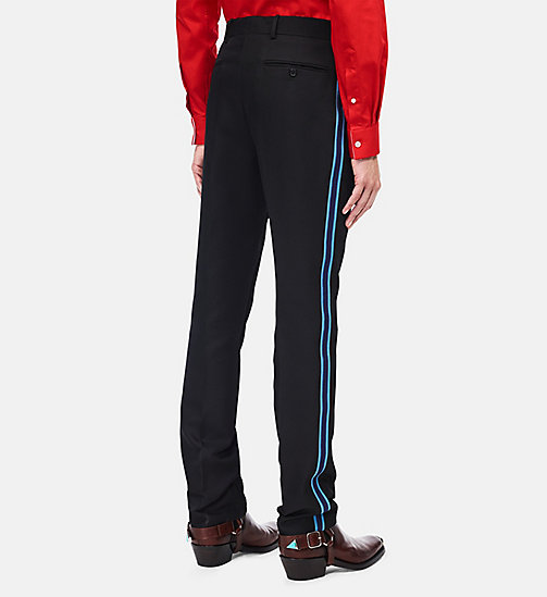 CALVINKLEIN Uniform Stripe Trousers - BLACK - CALVIN KLEIN CLOTHES - detail image 1