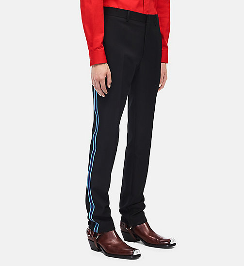 CALVIN KLEIN Uniform Stripe Trousers - BLACK - CALVIN KLEIN MEN - main image