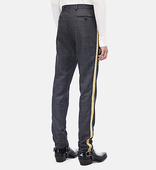 CALVIN KLEIN Uniform Stripe Trousers - GREY BLACK GRENADINE - CALVIN KLEIN MEN - detail image 1
