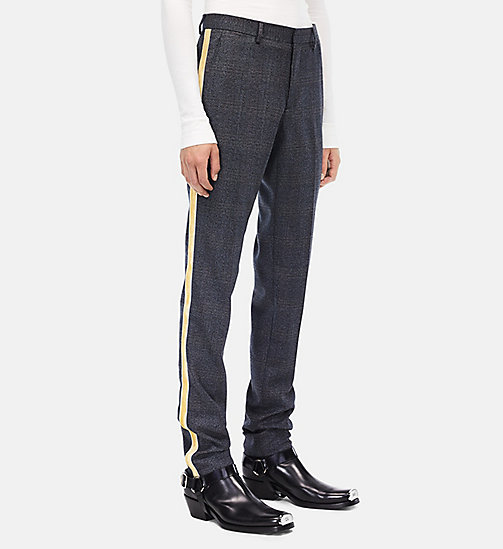 CALVIN KLEIN Uniform Stripe Trousers - GREY BLACK GRENADINE - CALVIN KLEIN MEN - main image
