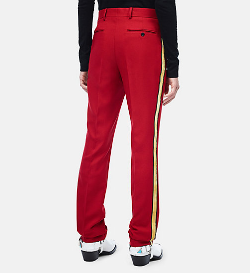 CALVINKLEIN Uniform Stripe Trousers - GRENADINE - CALVIN KLEIN CLOTHES - detail image 1