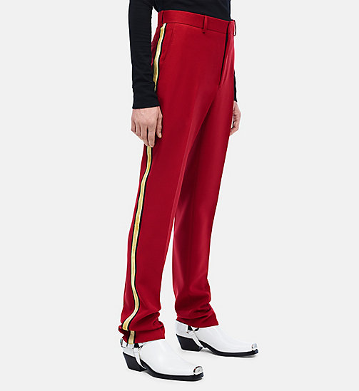 CALVINKLEIN Uniform Stripe Trousers - GRENADINE - CALVIN KLEIN CLOTHES - main image