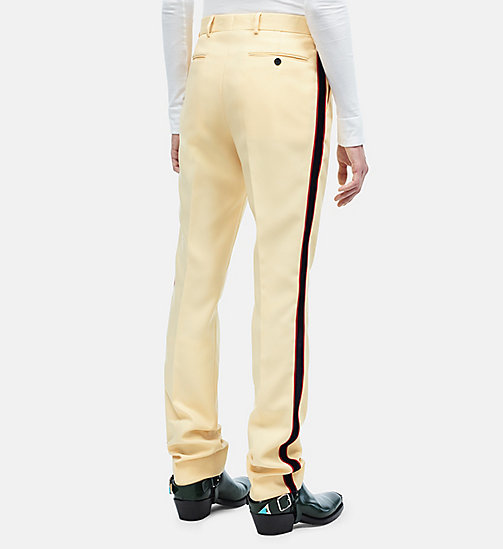 CALVINKLEIN Uniform Stripe Trousers - FRENCH VANILLA - CALVIN KLEIN CLOTHES - detail image 1