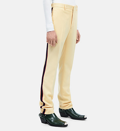 CALVINKLEIN Uniform Stripe Trousers - FRENCH VANILLA - CALVIN KLEIN CLOTHES - main image