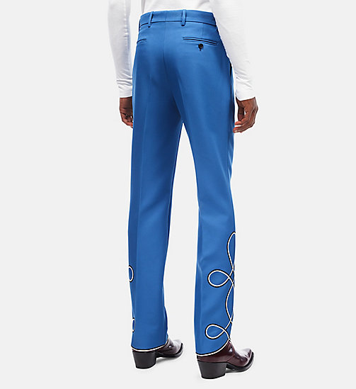 CALVINKLEIN Parade Trousers - STEEL BLUE - CALVIN KLEIN CLOTHES - detail image 1