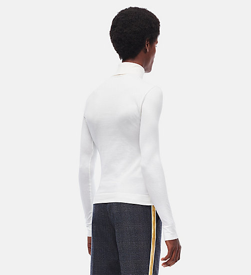 CALVINKLEIN 205W39NYC Turtleneck - WHITE - CALVIN KLEIN CLOTHES - detail image 1