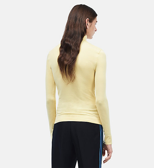 CALVINKLEIN 205W39NYC Turtleneck - LIGHT YELLOW - CALVIN KLEIN CLOTHES - detail image 1