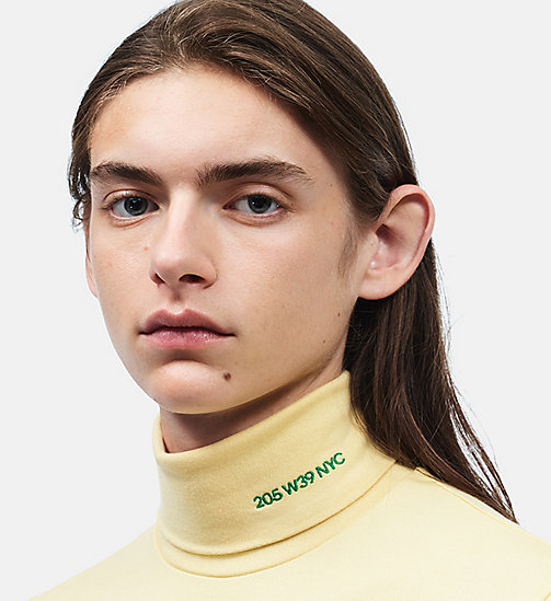 CALVIN KLEIN 205W39NYC Turtleneck - LIGHT YELLOW - CALVIN KLEIN CLOTHES - detail image 1
