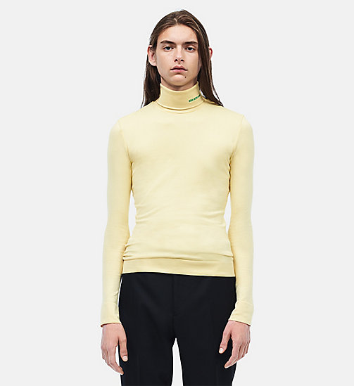 CALVIN KLEIN 205W39NYC Turtleneck - LIGHT YELLOW - CALVIN KLEIN CLOTHES - main image