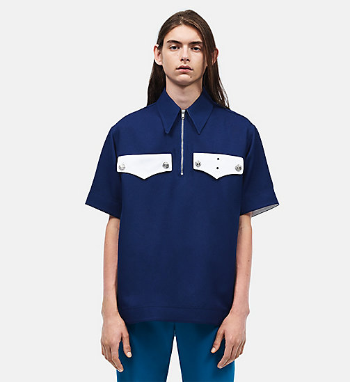 CALVINKLEIN Policeman Short Sleeve Shirt - MIDNIGHT - CALVIN KLEIN CLOTHES - main image