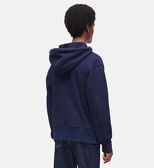 CALVINKLEIN Boxy Embroidered Hooded Sweatshirt - MARINE -  CLOTHES - detail image 1