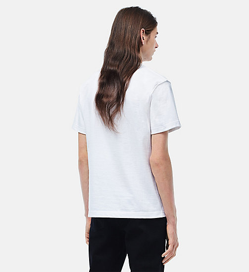 CALVINKLEIN Embroidered T-shirt - WHITE - CALVIN KLEIN CLOTHES - detail image 1