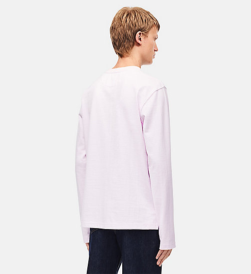 CALVINKLEIN Embroidered Long Sleeve Shirt - BLUSH -  CLOTHES - detail image 1