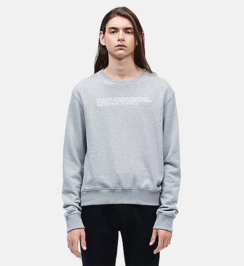 CALVINKLEIN Embroidered French Terry Sweatshirt - BLACK IVORY CHAMOIS - CALVIN KLEIN MEN - main image