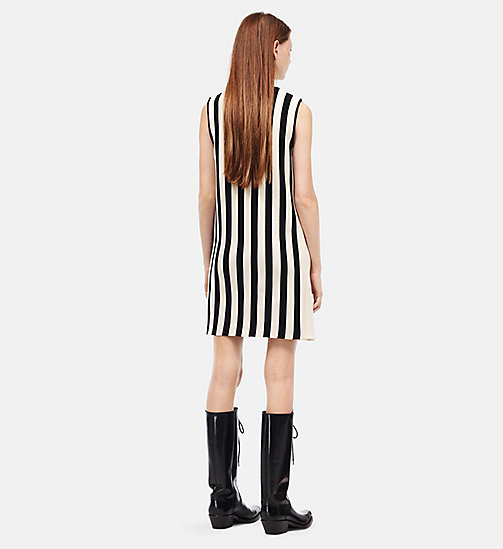 CALVINKLEIN Striped Sleeveless Dress - IVORY BLACK - CALVIN KLEIN CLOTHES - detail image 1