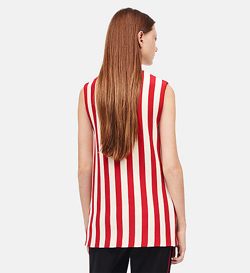 CALVINKLEIN Striped Sleeveless Top - IVORY RED - CALVIN KLEIN CLOTHES - detail image 1