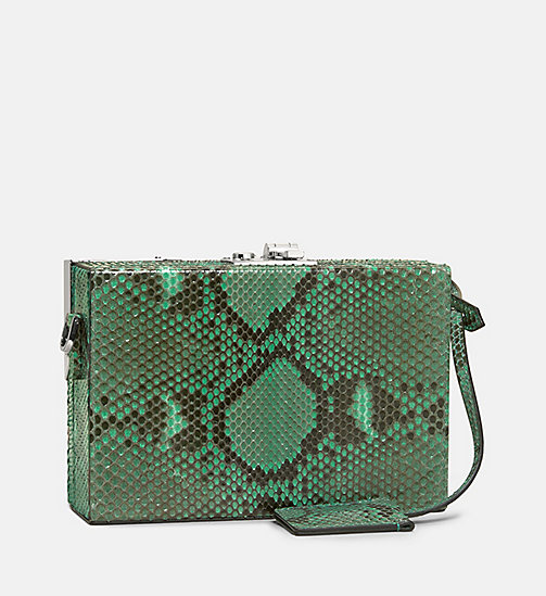 CALVINKLEIN Leather Mini Box Clutch - MINT - CALVIN KLEIN SHOES & ACCESSORIES - detail image 1