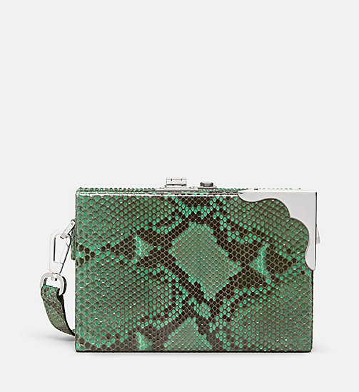 CALVINKLEIN Leather Mini Box Clutch - MINT - CALVIN KLEIN SHOES & ACCESSORIES - main image