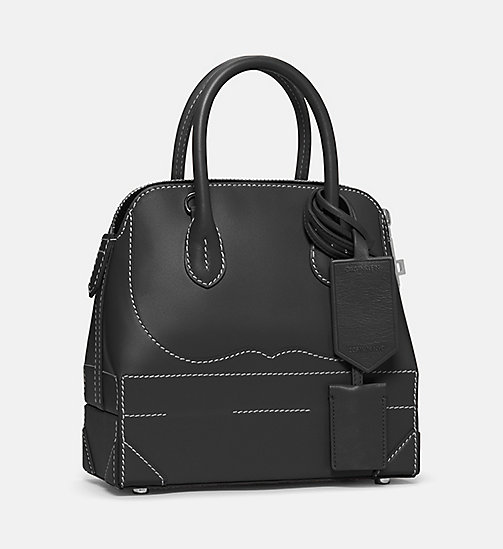CALVIN KLEIN Mini Calf Leather Western Shoulder Bag - BLACK - CALVIN KLEIN SHOES & ACCESSORIES - detail image 1