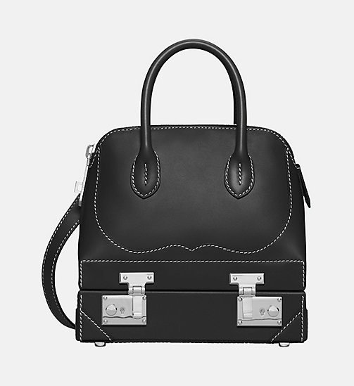 CALVIN KLEIN Mini Calf Leather Western Shoulder Bag - BLACK - CALVIN KLEIN SHOES & ACCESSORIES - main image