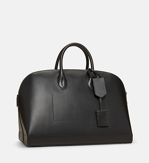 CALVINKLEIN Calf Leather Tote Bag - BLACK - CALVIN KLEIN SHOES & ACCESSORIES - detail image 1