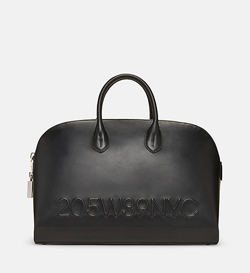 CALVINKLEIN Calf Leather Tote Bag - BLACK - CALVIN KLEIN SHOES & ACCESSORIES - main image