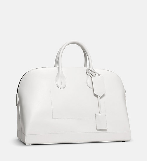 CALVINKLEIN Calf Leather Tote Bag - WHITE - CALVIN KLEIN SHOES & ACCESSORIES - detail image 1