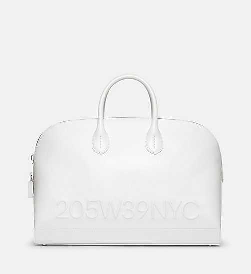 CALVINKLEIN Calf Leather Tote Bag - WHITE - CALVIN KLEIN SHOES & ACCESSORIES - main image