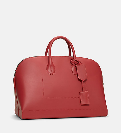 CALVINKLEIN Calf Leather Tote Bag - RED - CALVIN KLEIN SHOES & ACCESSORIES - detail image 1