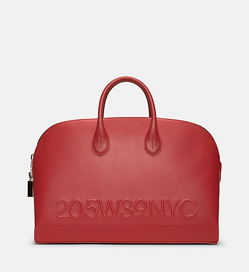 CALVINKLEIN Calf Leather Tote Bag - RED - CALVIN KLEIN SHOES & ACCESSORIES - main image