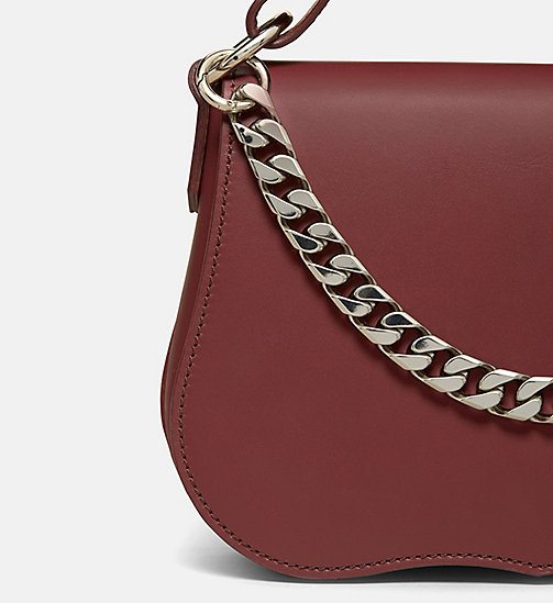 CALVIN KLEIN Small Western Shoulder Bag - BORDEAUX - CALVIN KLEIN BAGS - detail image 1