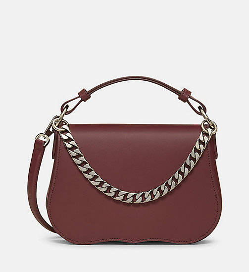 CALVIN KLEIN Small Western Shoulder Bag - BORDEAUX - CALVIN KLEIN BAGS - main image
