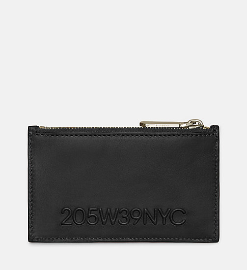 CALVINKLEIN 205W39NYC Embossed Card Case - BLACK - CALVIN KLEIN SHOES & ACCESSORIES - main image