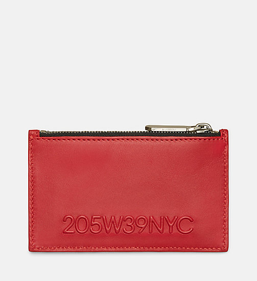 CALVINKLEIN 205W39NYC Embossed Card Case - RED - CALVIN KLEIN SHOES & ACCESSORIES - main image