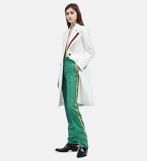 CALVIN KLEIN Uniform Stripe Tailored Coat - WHITE - CALVIN KLEIN WOMEN - detail image 1