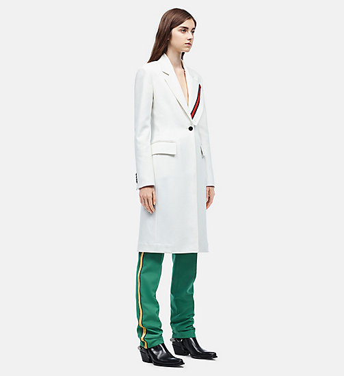 CALVIN KLEIN Uniform Stripe Tailored Coat - WHITE - CALVIN KLEIN WOMEN - main image