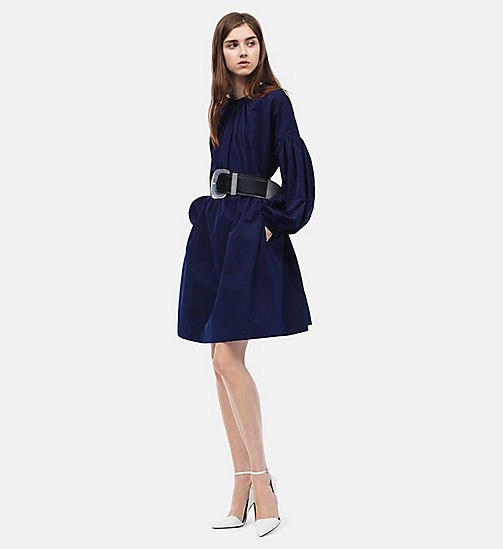 CALVIN KLEIN Ruched Sleeves Mini Dress - MARINE - CALVIN KLEIN WOMEN - detail image 1