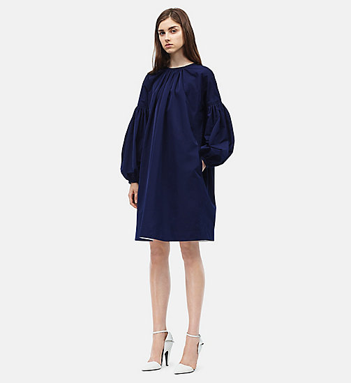CALVIN KLEIN Ruched Sleeves Mini Dress - MARINE - CALVIN KLEIN WOMEN - main image