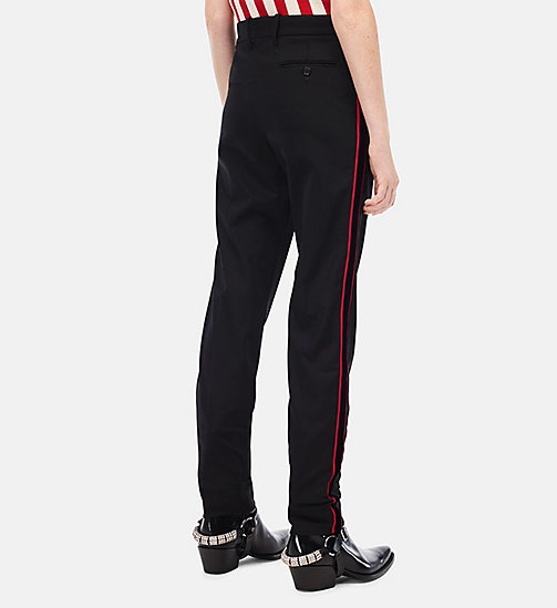 CALVINKLEIN Regular Fit Stripe Trousers - BLACK - CALVIN KLEIN CLOTHES - detail image 1