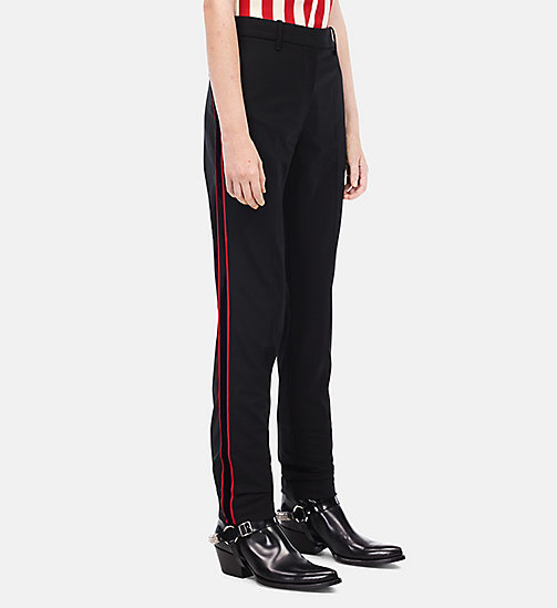 CALVINKLEIN Regular Fit Stripe Trousers - BLACK - CALVIN KLEIN CLOTHES - main image
