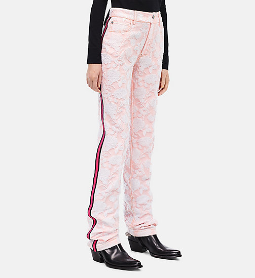 CALVIN KLEIN High Rise Straight Leg Trousers - ROSE WHITE - CALVIN KLEIN WOMEN - main image